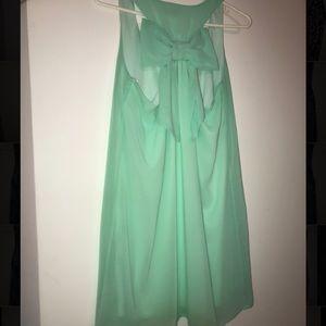 Dainty Hooligan Mint Green Bow Dress